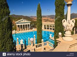 mediterranean style mansions a swimming pool at hearst castle a mediterranean style mansion atop