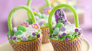 decorating easter baskets easter basket cupcakes recipe bettycrocker