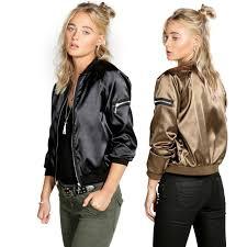 light bomber jacket womens bomber jacket women basic coat female 2017 autumn winter light gold