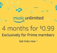 black friday amazon prime membership prime members 4 months of amazon music unlimited service