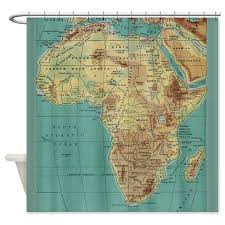 africa map fabric warm tour vintage map of africa shower curtain fabric polyester