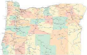 Political Map United States by Oregon Map