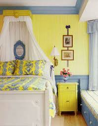 yellow and blue bedroom french bedroom in yellow and blue interiors by color
