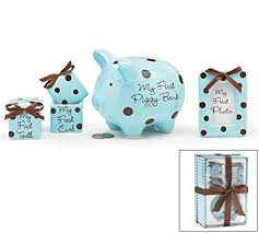 keepsake piggy bank baby boy 4 keepsake gift set with piggy bank