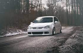 volkswagen white wallpaper volkswagen golf gti stance white winter roads auto front