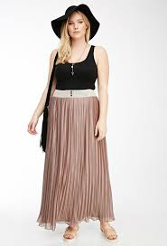 Blush Chiffon Maxi Skirt 20 Style Tips On How To Wear A Pleated Skirt Ideas Gurl Com