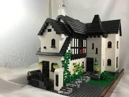 my first large moc tudor cottage it u0027s modular and split level