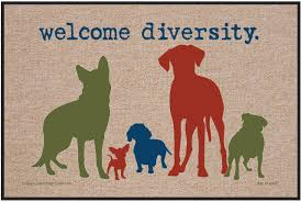 amazon com high cotton outdoor mat welcome diversity patio