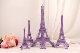 eiffel tower decorations wedding table centerpieces purple eiffel tower model alloy