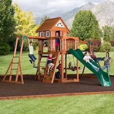 Sears Backyard Playsets Cedar Peak Playset With Free Installation Sam U0027s Club
