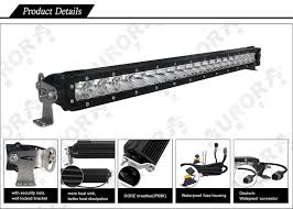 20 single row led light bar 20 inch 5w ip68 ip69k waterproof single row slim offroad led light