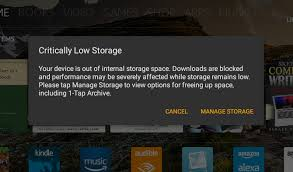 Table T How To Regain Storage Space On A Full Amazon Fire Tablet