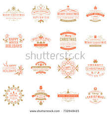 Happy New Year Decoration Vector by Set Merry Christmas Happy New Year Stock Vector 339772028