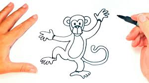 how to draw a monkey for kids monkey drawing lesson step by step