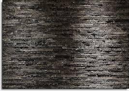 photo wallpaper black u0026 charcoal style stone wall wall mural