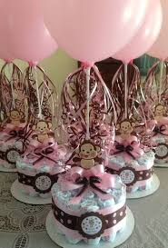 Baby Monkey Centerpieces by Monkey Baby Shower Diapers Centerpiece With Balloon Via Etsy