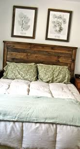 first project reclaimed wood look queen headboard diy projects