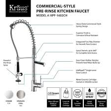 commercial kitchen faucet sprayer kraus commercial style single handle kitchen faucet with pull