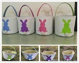 easter baskets online ins burlap easter bunny baskets diy rabbit bags bunny storage bag