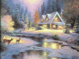 Winter Scene Shower Curtain by Winter Scenes Christmas Art 09 Beautiful Art Pictures