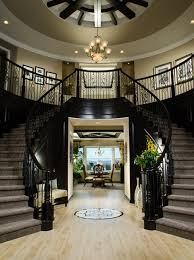 What Is A Grand Foyer Toll Brothers An Elegant Dual Circular Staircase At The Foyer