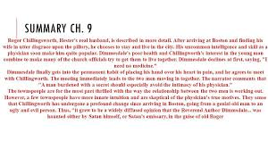 the scarlet letter chapter 17 summary analysis from litcharts