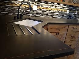 kitchen bar white modern concrete engineered stone countertops
