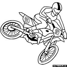 coloring pages bikes motorcycles motocross dirt bike online