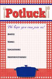 potluck invitation potluck flyer potluck poster invitation announcement sign template