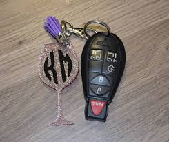 wine glass keychain wine keychain wine key chain personalized wine keychain wine
