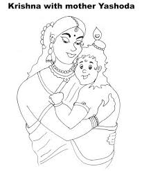 rakhi coloring pages shri krishna janmashtami coloring printable pages for kids