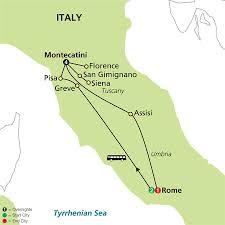 Tuscany Map 7 Nights Leisurely Tuscany And Rome Fox World Travel