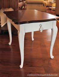 stained table top painted legs painting the legs only adds a nice contrast while preserving the