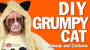 cat ears spirit halloween diy grumpy cat makeup and costume how to youtube
