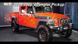 jeep pickup 2019 jeep wrangler pickup youtube