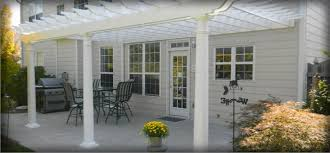 White Vinyl Pergola by Outdoor Garden U0026 Patio Pergolas Homeplace Structures