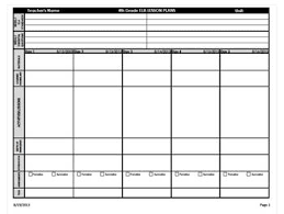 Weekly Lesson Plan Template Common by 4th Grade Common Weekly Lesson Plan Template Ela Math