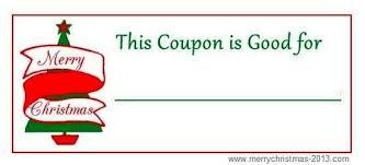 printable blank gift coupon template design idea for christmas