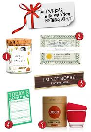 gifts for your boss who you know nothing about