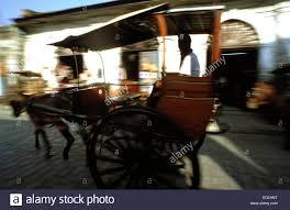 kalesa philippines kalesa ride horse carriage crisologo street ilocos vigan stock