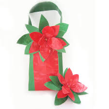 christmas gift wrapping ideas duct tape gift bag with poinsettia