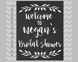 bridal shower chalkboard sign bridal shower welcome sign