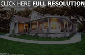 ranch style house with wrap around porch home design ideas