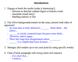 argument writing 7th grade humanities
