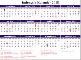 Gambar Kalender 2018 Lengkap 13 Desain Kalender Indonesia 2018 Lengkap Dengan Hari Libur