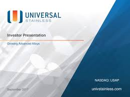 universal stainless u0026 alloy products usap presents at cl king
