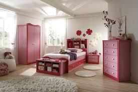 cute comfortable pink bedroom furniture with round shape white fur