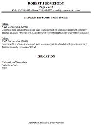Example Of Resume With References by Amazing Should A Resume Be 2 Pages 70 In Sample Of Resume With
