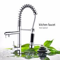Cheapest Kitchen Faucets by Kitchen Faucet Two Spouts Brass Price Comparison Buy Cheapest