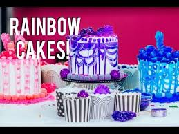 how to make rainbow cakes with a sprinkle inside